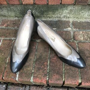 Ferragamo Classic Two Tone Pumps